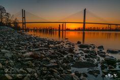 Alex Fraser Bridge Sunset by ericymt