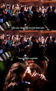 anna kendrick et skylar astin qui s'embrasse a la fin de pitch perfect 1 Pitch Perfect Quotes, Pitch Perfect Movie, Pitch Perfect Jesse, Funny Movies, Great Movies, Comedy Movies, The Hit Girls, Movies Showing, Movies And Tv Shows