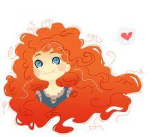 รูปภาพ disney, merida, and brave Sad Pictures, Disney Pictures, Cartoon Girl Drawing, Cartoon Drawings, Disney Fan Art, Disney Pixar, Merida Disney, Brave Disney, Redhead Art