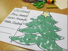 christmas trees with torn paper. great for fine motor skills