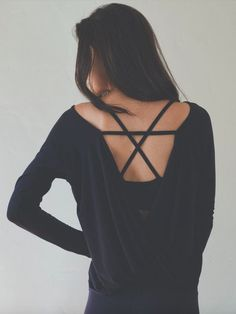 Tops with cool backs make them so much more glamorous