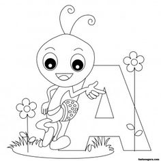 printable animal alphabet worksheets letter a for ant printable coloring pages for kids