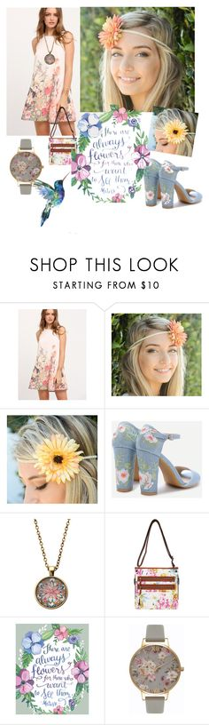 """""""Flower Print"""" by medusa88 ❤ liked on Polyvore featuring Bueno and Olivia Burton"""