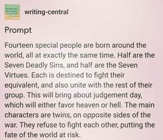 Each of their fellow 'allies' has actually contacted them. They refuse to join them and is hiding their twin from them also they wont tell each others Book Prompts, Daily Writing Prompts, Book Writing Tips, Cool Writing, Writing Quotes, Writing Help, Dialogue Prompts, Story Prompts, Writing Ideas