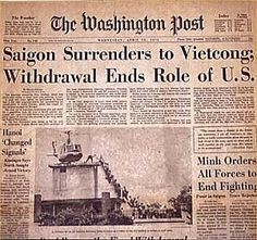 The Vietnam War (officially) ended in 1975.