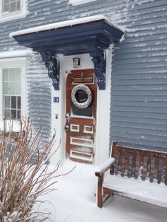 The Revere Guest house in Provincetown, MA on Cape Cod during the recent blizzard