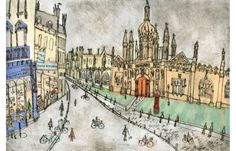'King's College Cambridge'   Giclee print        Image size 41.5 x 28 cm  Edition size 195  £130