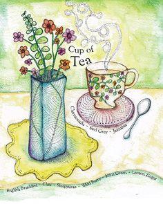Tea Series Art Prints 8 x 10 size by SunnySpotStudio on Etsy, $20.00