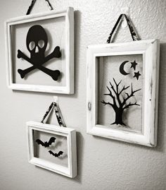 cute floating frames... use dollar store frames Could use window clings and change for each season/holiday!