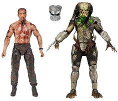 "Neca Predator the Final Battle Dutch Vs Jungle Hunter 7"" Action Figure 2pcs Set Original (Unopened)"