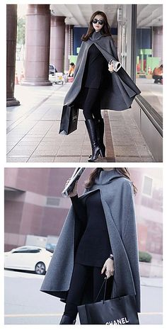 Such a sweet cape~do you like it for your winter outfit idea?