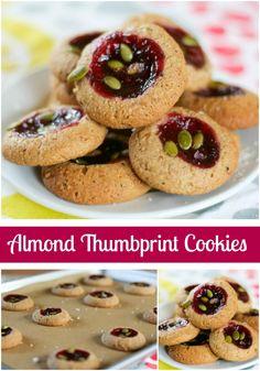 Almond Thumbprint Cookies {Vegan & Wheat-Free}