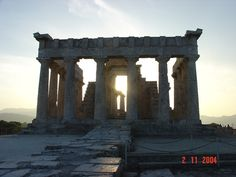 Temple of Athena Aphaia, Aegina Island Best Sunset #Bestofgreece