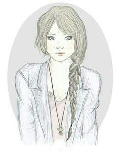 I think its hard to draw a braid