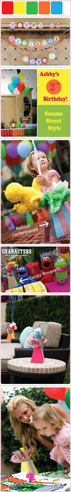 Sesame Street Party - Find more Sesame Street Birthday Party Ideas at http://www.birthdayinabox.com/party-ideas/guides.asp?bgs=68