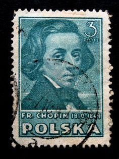 A stamp printed by Poland shows The composer Frederic Chopin. This is one stamp from a series circa 1950s