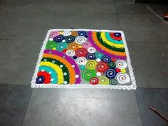 how to make easy fancy square rangoli design Latest Rangoli Design For diwali and Laxmi puja. Find more latest, simple and beautiful rangoli design technique. Rangoli Designs Latest, Latest Rangoli, Colorful Rangoli Designs, Rangoli Designs Diwali, Beautiful Rangoli Designs, Rangoli Ideas, Mandala Art, Make It Simple, Projects To Try