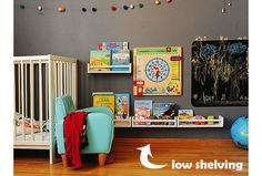 Low shelving for toddlers