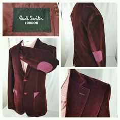 Paul Smith London 2 button wool blazer w/elbow patch super 180's size 54EUR/44US #PaulSmith #TwoButton