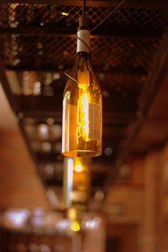 Wine bottle light fixture ©MPact Images 2012