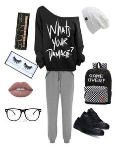 """""""Me """" by lunakiwi on Polyvore featuring Calvin Klein Underwear, Converse, Vans, Lime Crime and Huda Beauty"""