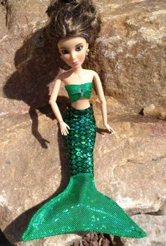 Ariel Green Small Doll Tail and Top $9.95