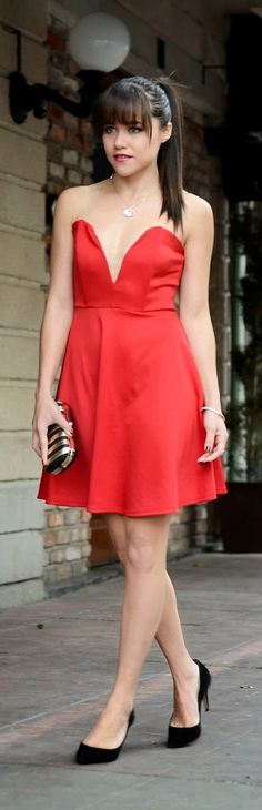 Cute red dress for valentine's day