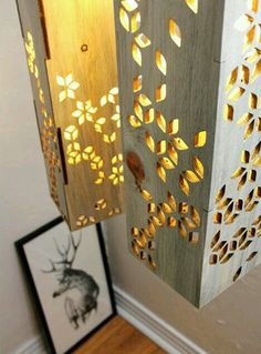 Make with pallet wood and use honeycomb patterns
