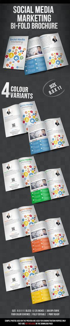 Social Media Bi Fold Brochure Brochure Pinterest Brochures