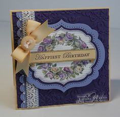 Beautiful water coloring. Stamped in gray. Elegant Eggplany, Wisteria Wonder, and So Saffron.