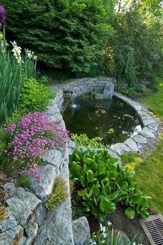 Pretty Pond in the Garden...I want this in the upper field, so the frog noises aren't as loud in the house. So serene!!