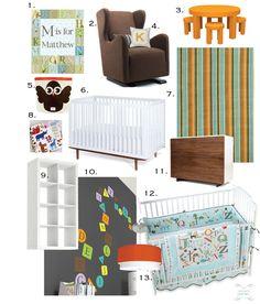 Design Board: An Alphabet Inspired Nursery.