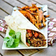 Vegetarian Carnitas Burrito