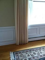 best way to hang curtains over electric baseboard google search home ideas pinterest la. Black Bedroom Furniture Sets. Home Design Ideas