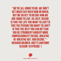 Decide Grey's Anatomy Quote