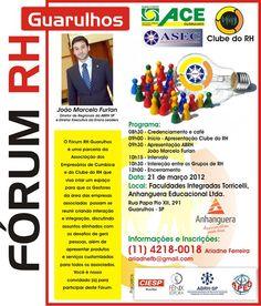 Fórum RH Guarulhos com João Marcelo Furlan, dia 21 de março