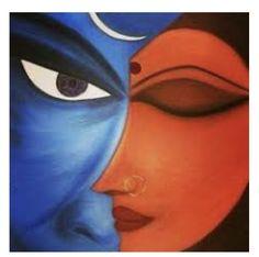 Lord Shiva Painting, Ganesha Painting, Shiva Art, Krishna Art, Shiva Shakti, Madhubani Art, Madhubani Painting, Mural Painting, Painting & Drawing