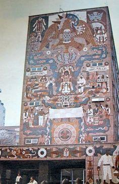 Juan O'Gorman, Architect, University Library, Mexico City America Continent, Graffiti, Frida And Diego, Mexico Art, Best Street Art, Mexican Artists, Diego Rivera, México City, Arte Popular