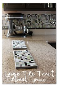 Sugar Bee Crafts: sewing, recipes, crafts, photo tips, and more!: Large Tile Trivet