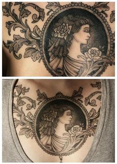 beautiful chest tattoo, I don't have the guts to do it on my chest, but possibly a smaller arm piece with a different layout for the ivy?