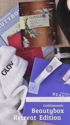 Die Produkte der aktuellen #LFBeautybox widmen sich alle dem Thema Entspannung und #MeTime 🧖🏼♀️ perfekt für die Herbstzeit wie ich finde 🍁🍂 Neben einem Hair Wrap von Glov und Eye Patches von Starskin findet sich auch eine Fußcreme in der BeautyBox. Außerdem ist auch noch Skincare und ein Bedazusatz enthalten. #bibifashionable #lookfantastic #BeautyBox Beauty Box, Bath Tea, Wrap, Lifestyle Blog, German, Patches, Cards Against Humanity, Wellness, Logo