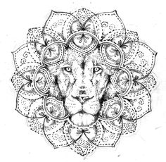 Lion mandala, tattoo design free by Agresivoo.deviant… on Lion mandala, tattoo design free by Agresivoo.deviant… on Dotwork Tattoo Mandala, Mandala Flower Tattoos, Flower Mandala, Sternum Tattoo, Mandalas Painting, Mandalas Drawing, Mandala Coloring Pages, Free Tattoo Designs, Flower Tattoo Designs