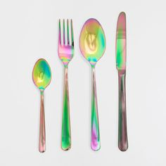 COLOR EFFECT STEEL FLATWARE - Flatware - Tableware - Home Collection - SALE | Zara Home United States