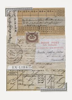 I pulled out some of my vintage documents for this week's collage. 19th century French documents, a vintage ticket, an Indian letter and a ...