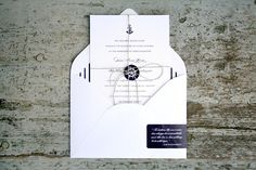 | Tie That Binds :: Custom Wedding Invitations & Reception Styling!