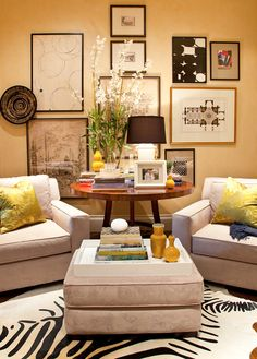 Interiors | Gary Riggs Home... I like this Collage...Especially the Round Object tucked in, close to a pair of pix...