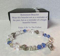Retirement Bracelet Swarovski Crystal Sterling By