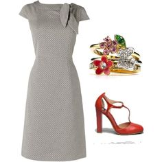 Hello - Red Bow Dress by wwepw on Polyvore featuring Phase Eight and Juicy Couture