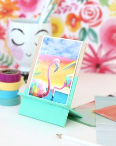DIY Wood Easel for Photos - Damask Love