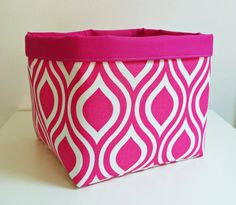 Extra Large Storage Basket Fabric Organizer in by littlehenstudio, $40.00